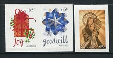 2016 Christmas - Set of 3 Local Value  Booklet Stamps