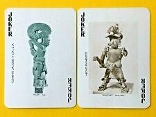 2 Palma & Dignatario Mexican Cultural Statues Jokers Swap Playing Cards