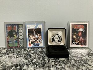 Michael Jordan Silver Coin  1 Oz W/ Baseball Rookie N. Carolina Nba Champion Lot