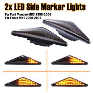 Dynamic LED Side Indicator Signal Light For Ford Mondeo Focus MK1 2000-06 LD2152