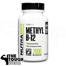 NUTRABIO - METHYL B-12 2000mcg 120caps - Promotes Healthy Homocysteine Levels