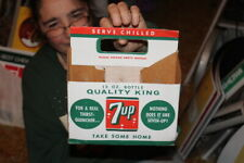 Vintage 7Up 7 Up Soda Pop Bottle Carton Carrier Caddy Sign