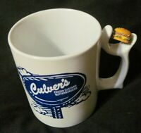 Culver's Spinners Ceramic Coffee Mug Cup Spinning Hamburger RARE EUC