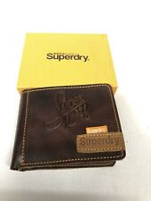 Men's Brown SuperDry Leather Wallet Leather