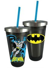 Batman Acrylic & Stainless Steel 16 oz Cup With Straw