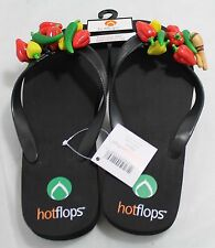 Hotflops Flip Flops Beach Sandals Slip on Thong Chillippeper  size 6-7