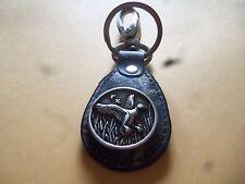WEBER CAMO LANDINDG DUCK CONCHO COIN Outdoor Man Key Chain Leather w/ Belt Clip