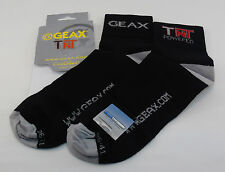 Genuine Nos Geax Cycling Sock, Black, Medium, 36-41,  Brand New