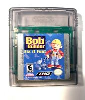 Bob The Builder Fix It Fun Nintendo Gameboy Game Boy Color Tested + Working!