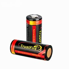 Trustfire Rechargeable 26650 5000mah li-ion Battery 3.7V Has Protection Flat T