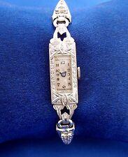 Vintage 1930's Ladies Deco PLATINUM WATCH - More Valuable per Gram than 14K Gold