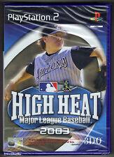 PS2 High Heat Major League Baseball 2003, UK Pal, New & Sony Factory Sealed