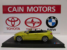 BMW M4 Convertible F84    Austin Yellow Metallic 1/18th    Factory BMW Diecast
