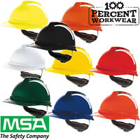 MSA V-GARD 500 Vented Safety Work Helmet Hard Hat Builders Engineers Tradesman