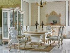 10 tlg. Esszimmer Komplett Garnitur Tisch Anrichte 6x Stuhl Set Vitrine Barock