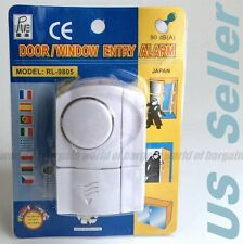 Home Security Entry DOOR WINDOW ALARM Anti Burglar Wireless Magnetic Sensor TH37