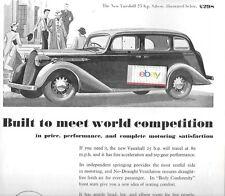 VAUXHALL MOTORS LTD LUTON 1937 NEW VAUXHALL 25HP BUILT TO MEET WORLD AD
