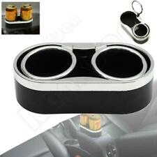 Black Universal Car Truck Mount Drink Bottle Interior Dual Cup Holder Stand NEW