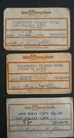 Vintage 70's Resort Hotel Guest Identification Cards Walt Disney World Assorted
