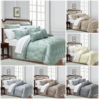 3 Piece Quilted Bedspread Bed Throw Double King Size Luxury Bedding Sets