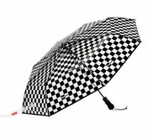 Supreme x Shedrain Transparent Checkered Umbrella Black Brand New 100% Authentic