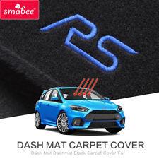 smabeeDash Mat Dashmat Black Carpet Cover For Ford Focus RS 2015-2016 Automotive