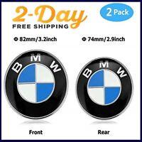 BMW Logo Emblem Replacement Hood Trunk E30 E36 E46 E34 E39 E60 E65 82mm + 74mm