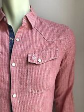 Penguin Western Shirt, Red Rock Dobby, Medium, Heritage Slim Fit, Excellent Cond