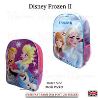 Kids Girls Disney Frozen Backpack School Bag Rucksack Children Back To School