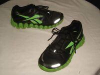 Reebok Black/Green Zigtech Zigdynamic Running Shoes  Sz. Men's 6