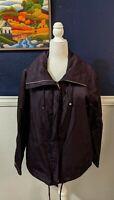 Lafayette 148 New York Purple Rain Zip Jacket Coat Sz Large L