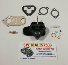 FIAT 500 F/L KIT SERIE REVISIONE CARBURATORE ORIGINALE WEBER 26 + DISTANZIALE