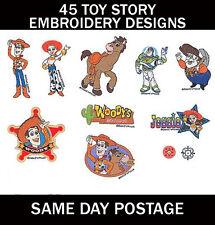 45 Toy Story bordado a máquina Pes diseño de imágenes en CD (Entrega UK LIBRE)