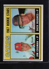 1967 TOPPS #384 JIM COSMAN/ DICK HUGHES OVER PRINT ERROR F4539