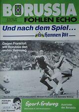 Programm 1986/87 Bor. Mönchengladbach - Eintracht Frankfurt
