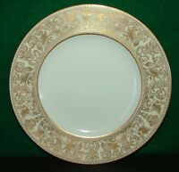 WEDGWOOD  FLORENTINE GOLD-WHITE   SALAD  PLATE