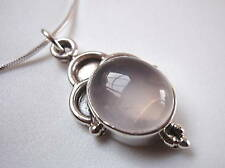 Pink New Corona Su 0000363C n Jewelry Rose Quartz 925 Sterling Silver Necklace