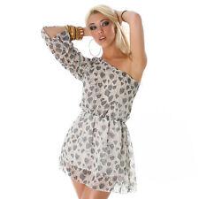 Jela London Vestitino vestito con Una Spallina Tunica piuma stampa TGL 36 - 38