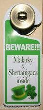 Door Knob Sign Home house shop teenager Hanger ADULT ROOM entrance kid BEWARE