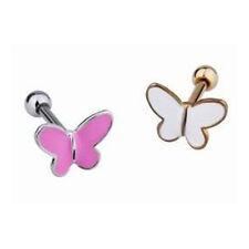 Silber oder Gold Ohr Tragus Piercing Schmuck in Schmetterling Form NEU NEU