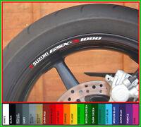 SUZUKI GSXR 1000 Wheel Rim Stickers gsx-r gsxr1000 gsx r k1 k3 k4 k5 k6 k7 k8 k9