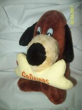 """Vintage Classic Toy Co Go Dawgs 10"""" Stuffed Plush Dog with Bone in Mouth"""