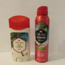 Old Spice Fiji Deodorant and Re-Fresh Body Spray