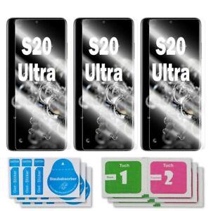 3x Samsung Galaxy S20 Ultra Schutzglas 9H Echtglas Panzerfolie Schutzfolie