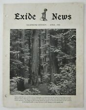 Vintage Exide Telephone Battery News Advertising Big Trees Redwood Sequoia 1940