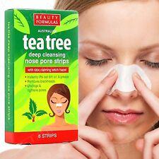 Tea Tree Beauty Formulas Nose Pore Strips 6 X Australian Branded Acne Oily Skin