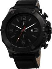 Joshua & Sons JS75BK Swiss Quartz Month Day Date GMT Black Mens Watch