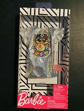 New Barbie Holiday Fashion Outfit Silver Sparkly Reindeer Dress Christmas