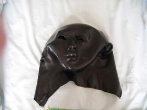 Latex rubber mask hood