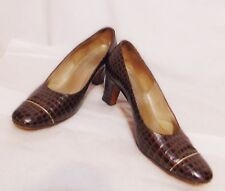HILL AND DALE Vintage 50/60's Women's Heels/Pumps Size 5 AA Leather Animal Print